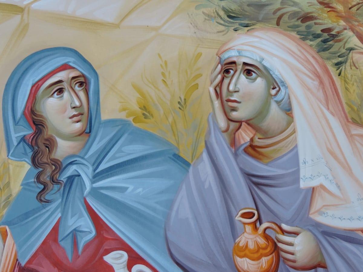 art, veil, spirituality, woman, virgin, worship, belief, prayer