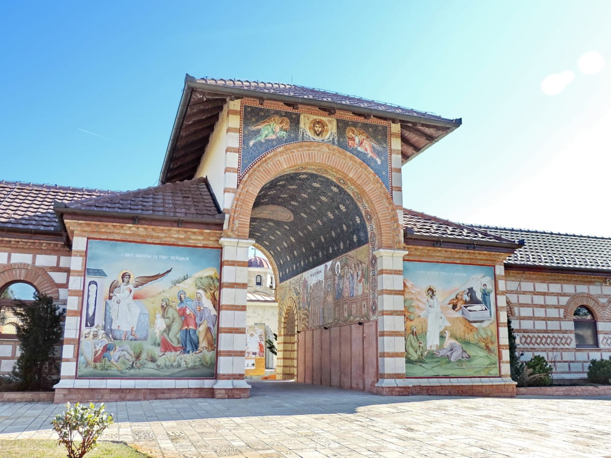 christianity, entrance, facade, gate, monastery, temple, architecture, residence