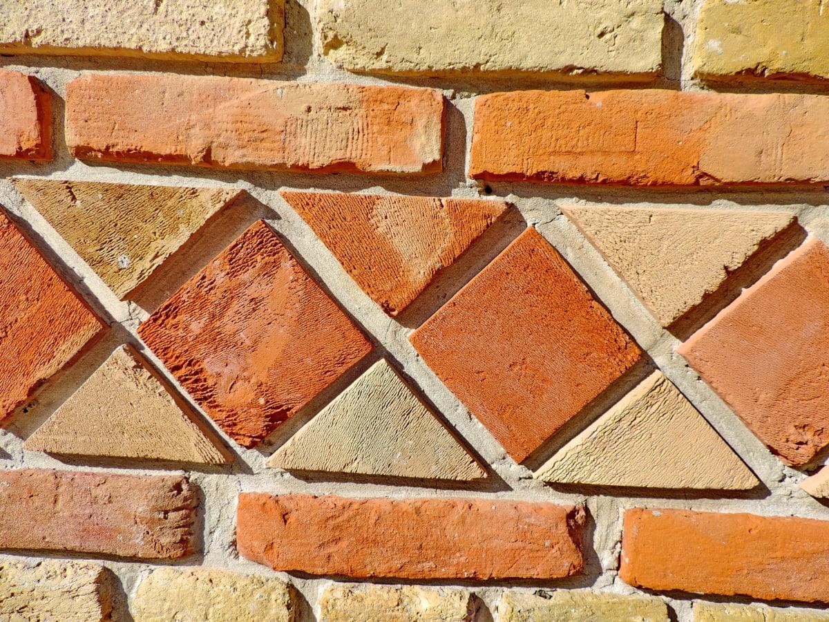 砖, 装饰, 墙上, 体系结构, 表面, 构建, 老, 纹理