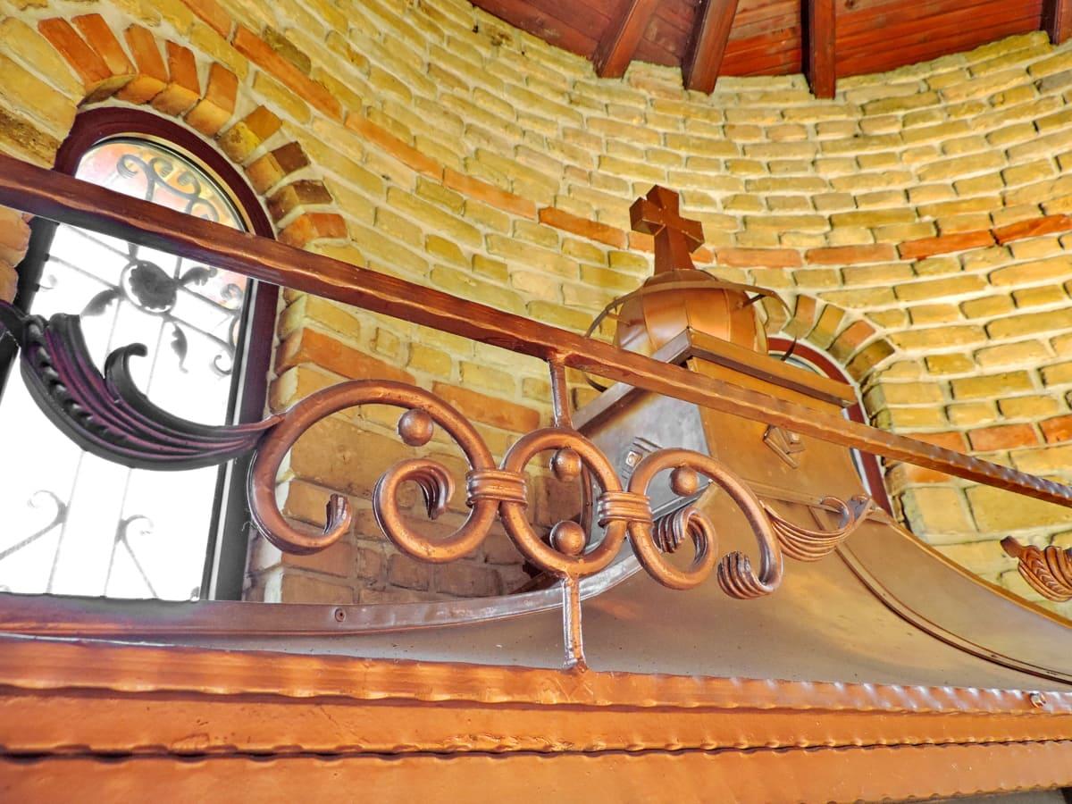 мед, вътрешна украса, манастир, архитектура, сграда, дизайн, декорация, дървен материал