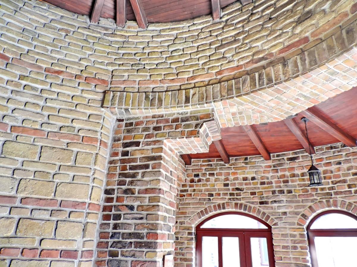 ladrillos, medieval, techo, construcción, arquitectura, antiguo, pared, ladrillo