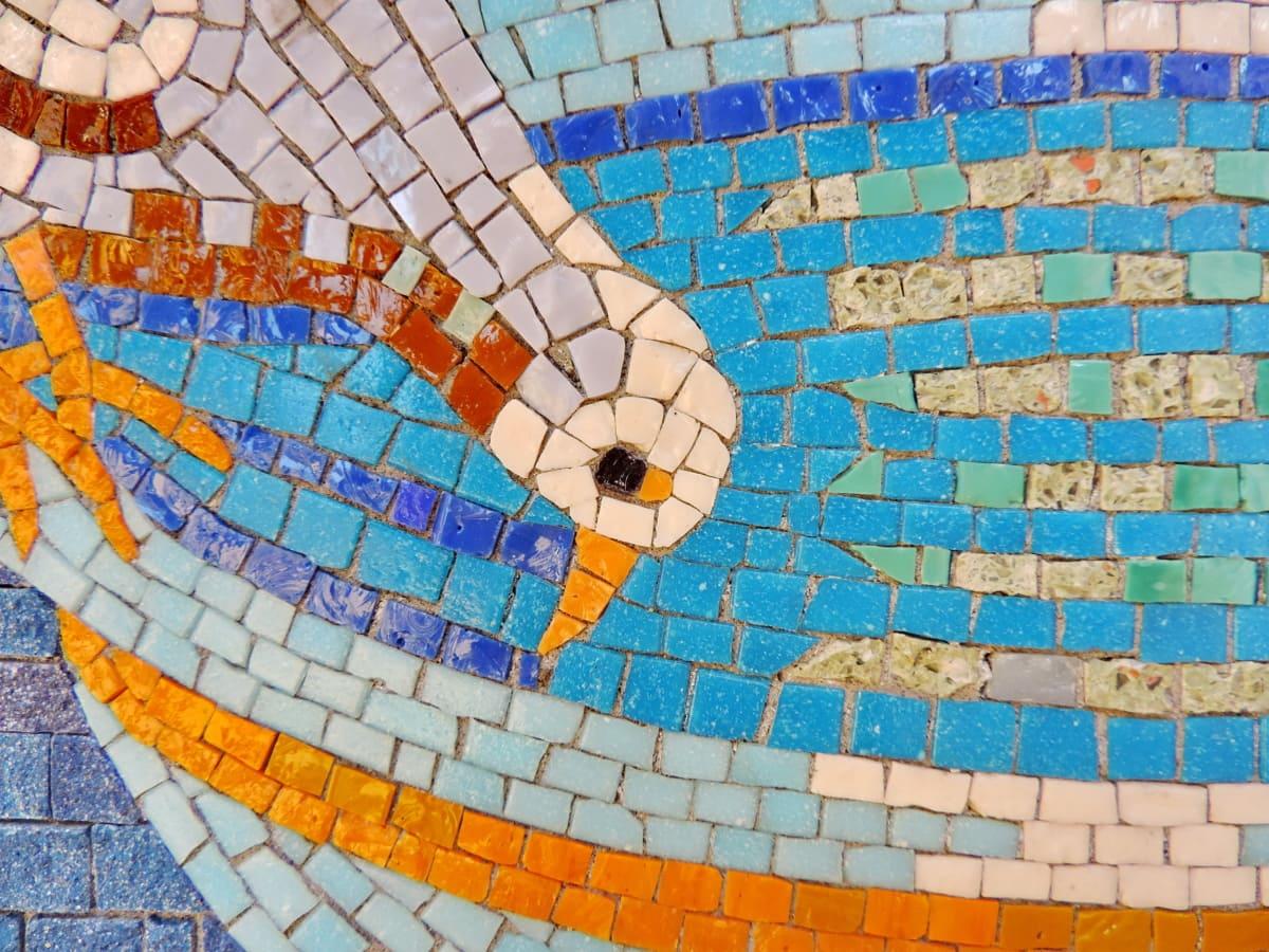 lintu, kyyhkynen, keskiaikainen, mosaiikki, Ohje, taide, kuva, suunnittelu