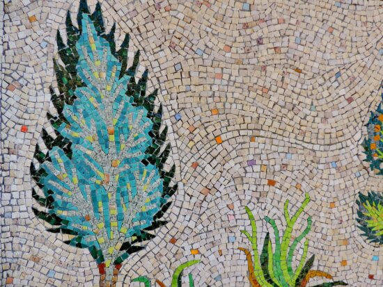 mosaic, pattern, art, leaf, color, design, decoration, abstract