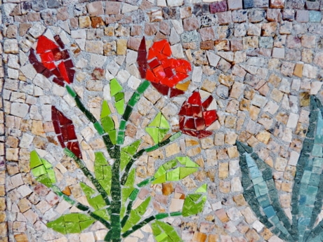 mosaic, wall, pattern, texture, abstract, stone, art, design