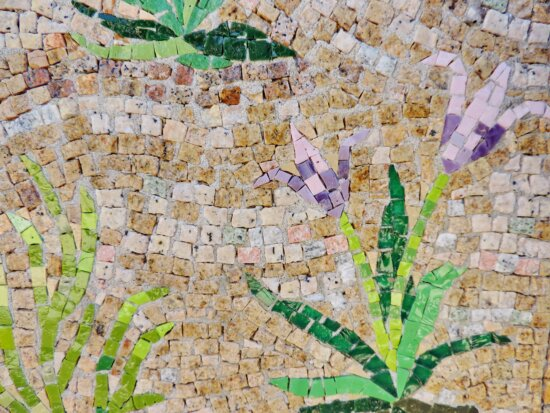 handmade, wall, pattern, abstract, stone, mosaic, old, concrete
