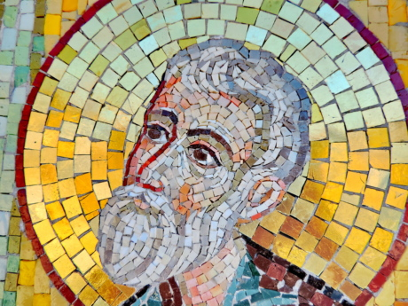 Byzantine, medieval, mosaic, saint, art, wall, artistic, illustration