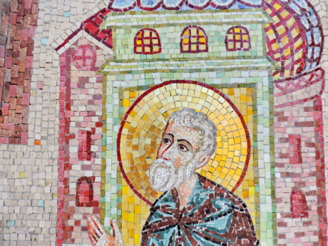 handmade, mosaic, art, wall, old, religion, painting, culture