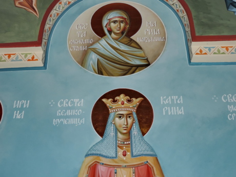 icon, medieval, queen, Serbia, religion, people, illustration, art