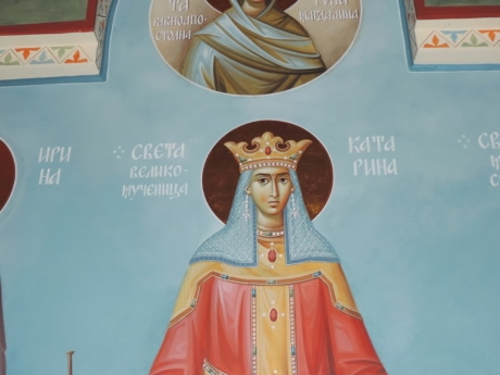 art, christianity, icon, kingdom, medieval, queen, Serbia, vestment