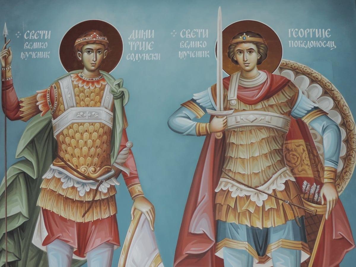 Ortodoks, aziz, Sırbistan, Maneviyat, Demekki, illüstrasyon, Sanat, din