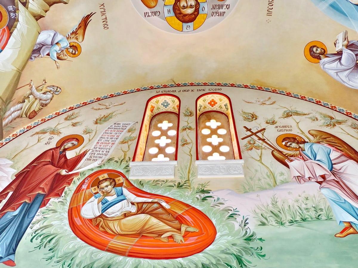 oltar, Krist, kršćanstvo, crkva, ikona, uređenje interijera, pravoslavlje, prozor