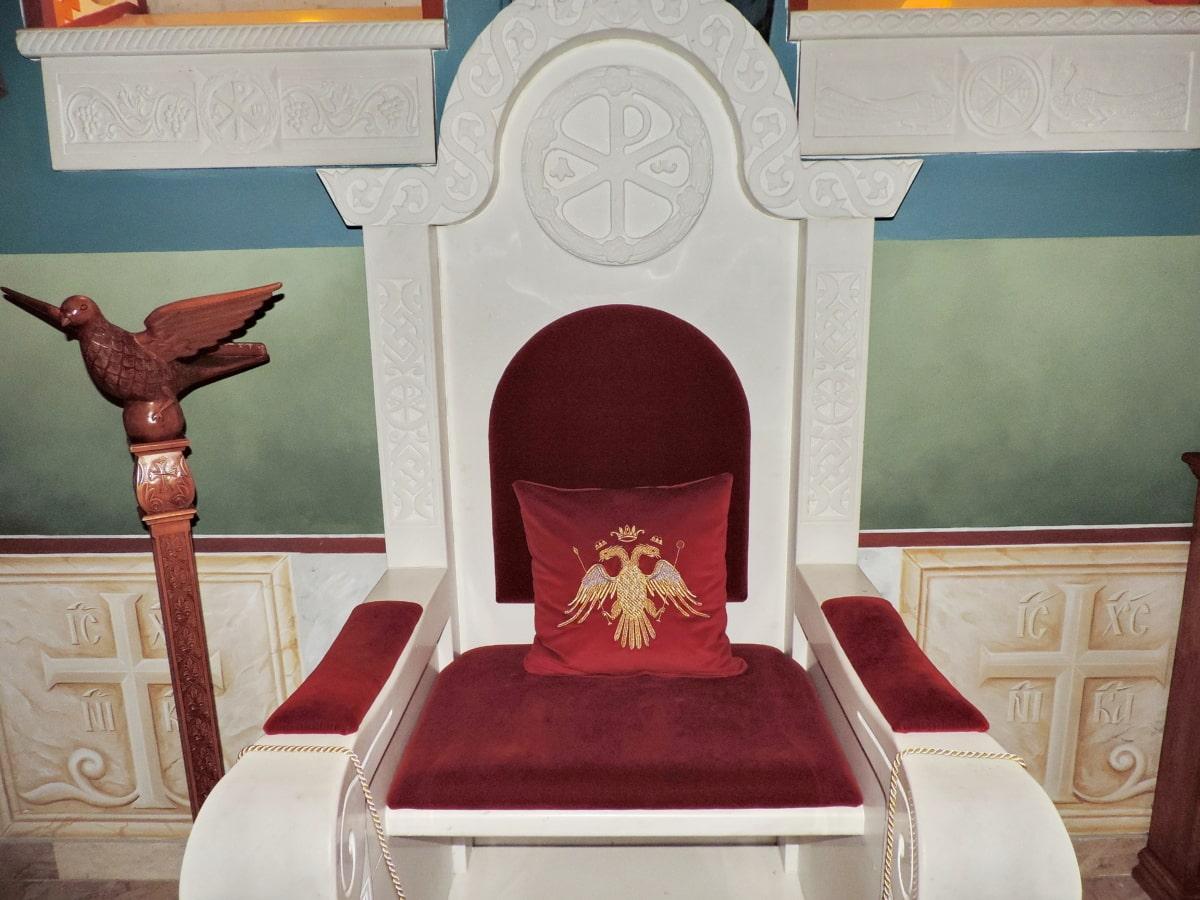 výzdoba interiéru, království, ortodoxní, pěší, sídlo, nábytek, uvnitř, křeslo