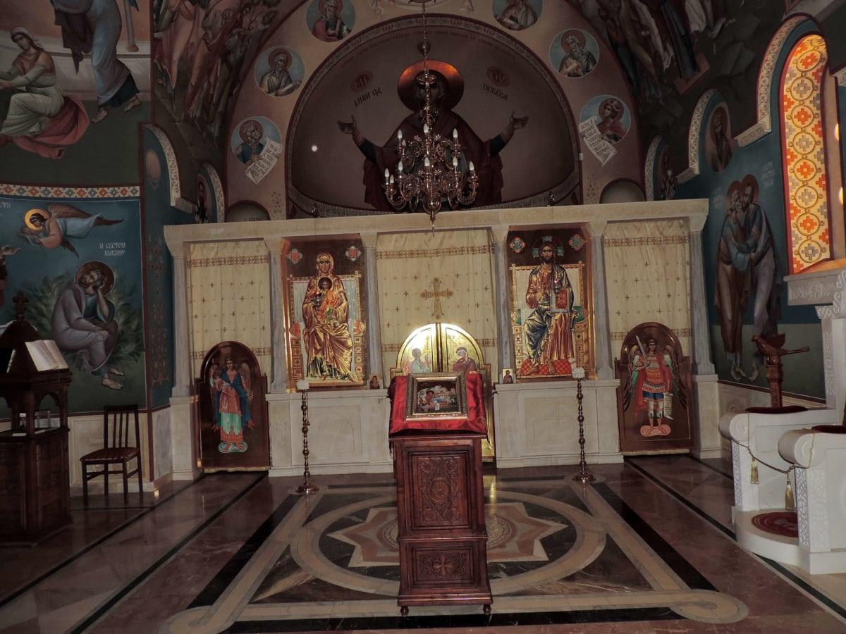 олтар, Византийски, вътрешна украса, православна, религия, архитектура, катедрала, структура