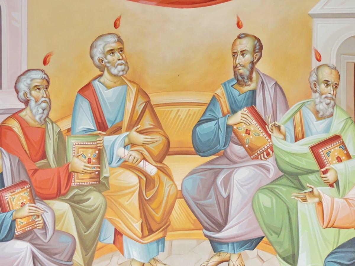 Византийски, християнството, икона, Свети, одежда, изкуство, религия, хора