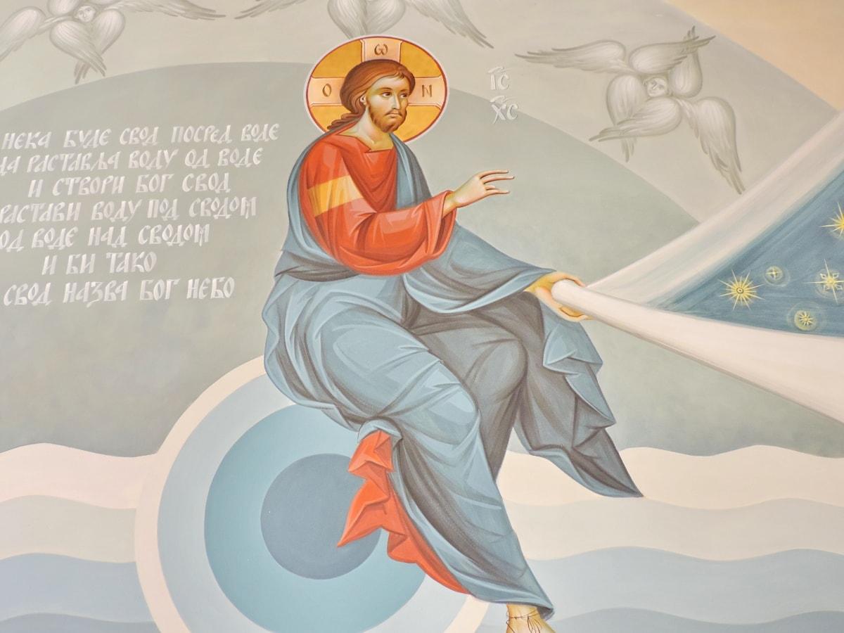 orthodoxe, religiöse, Heilige, Abbildung, Kunst, Mann, Grafik, Design