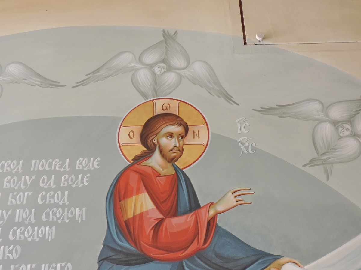 anjel, svätec, Nástenné, krídla, interiéri, ilustrácie, muž, Voľný čas