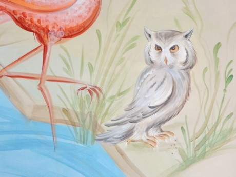graffiti, mural, owl, illustration, art, design, decoration, beautiful