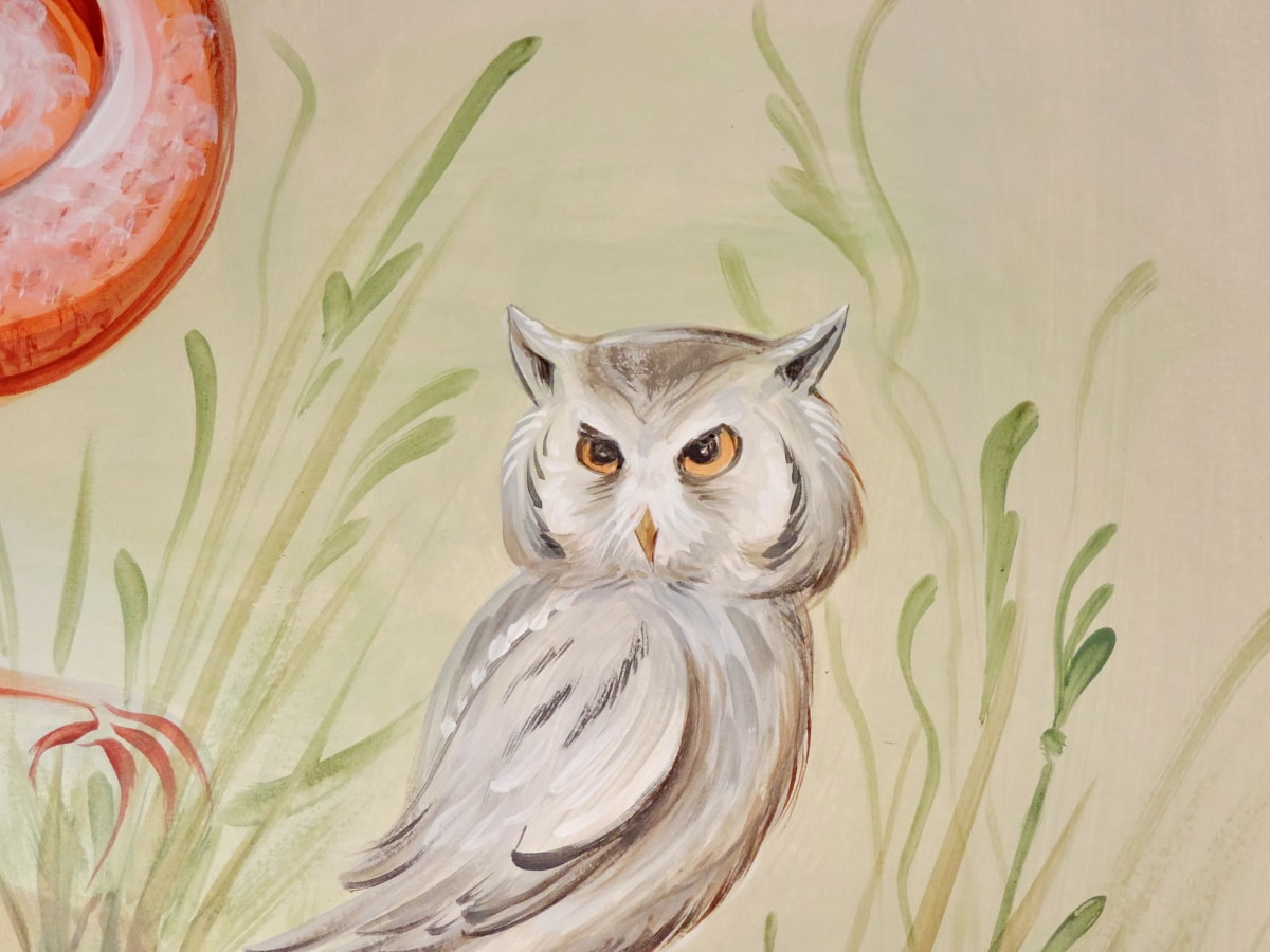 bird, fine arts, graffiti, mural, owl, portrait, animal, illustration