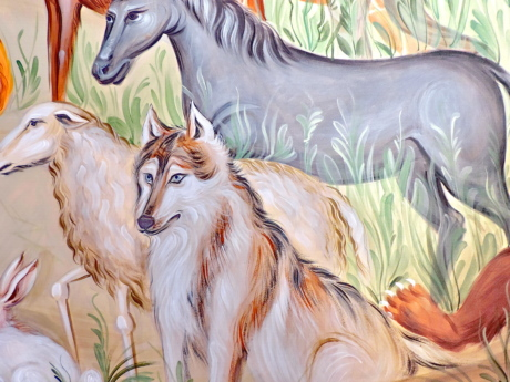 animals, wolf, art, illustration, painting, beautiful, color, nature