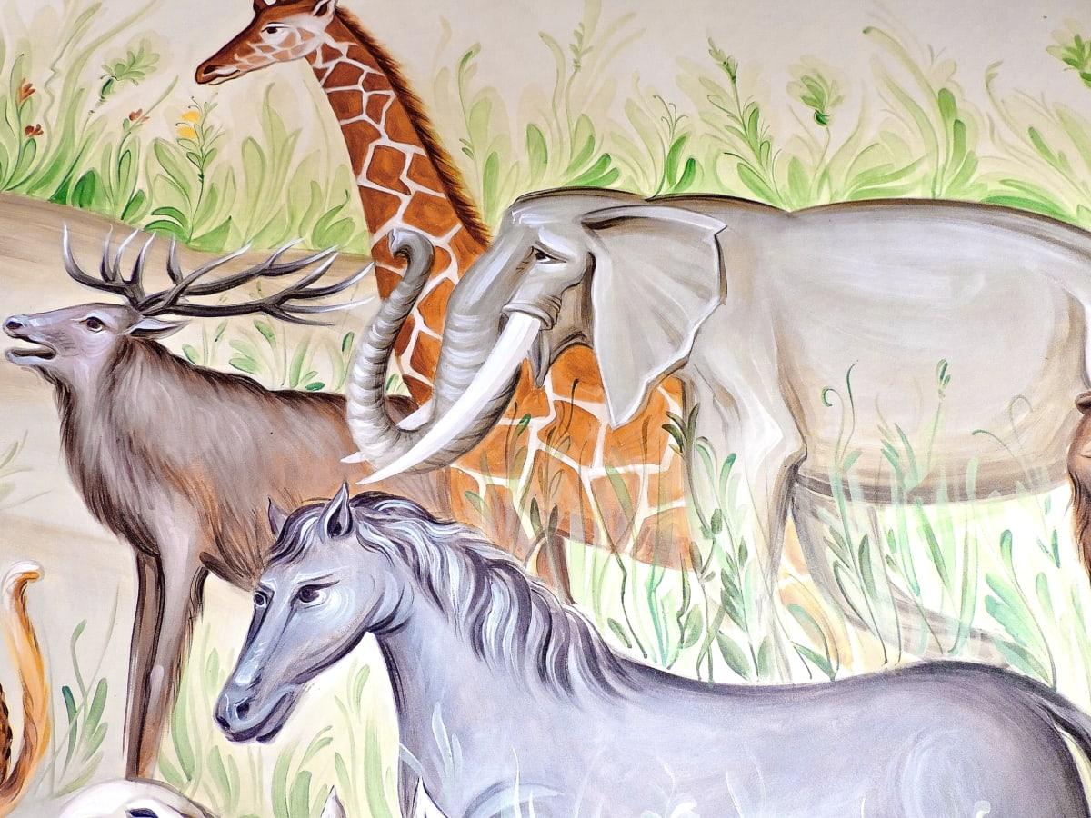 илюстрация, изкуство, живопис, животните, печат, природата, дизайн, цвят