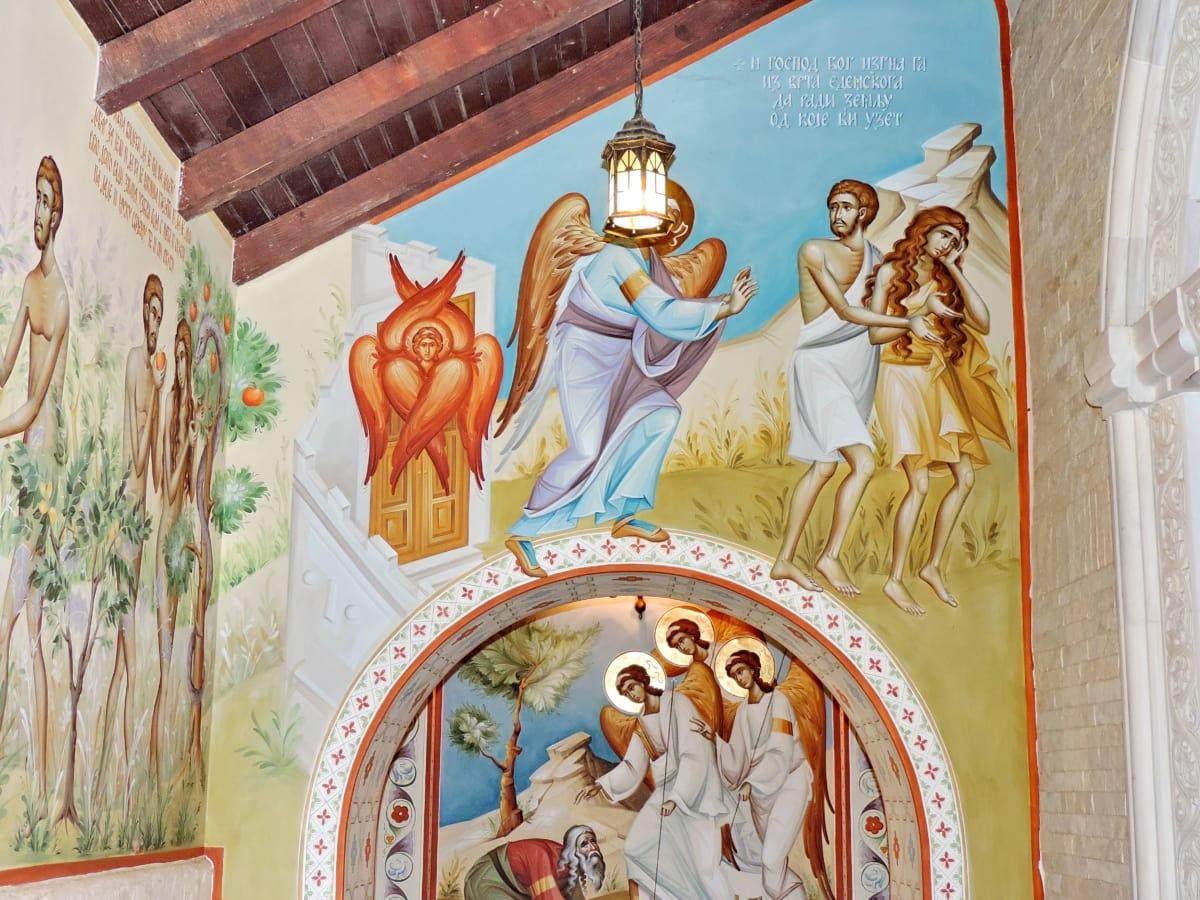 Церковь, Небеса, значок, Православные, Сербия, украшения, Религия, Искусство