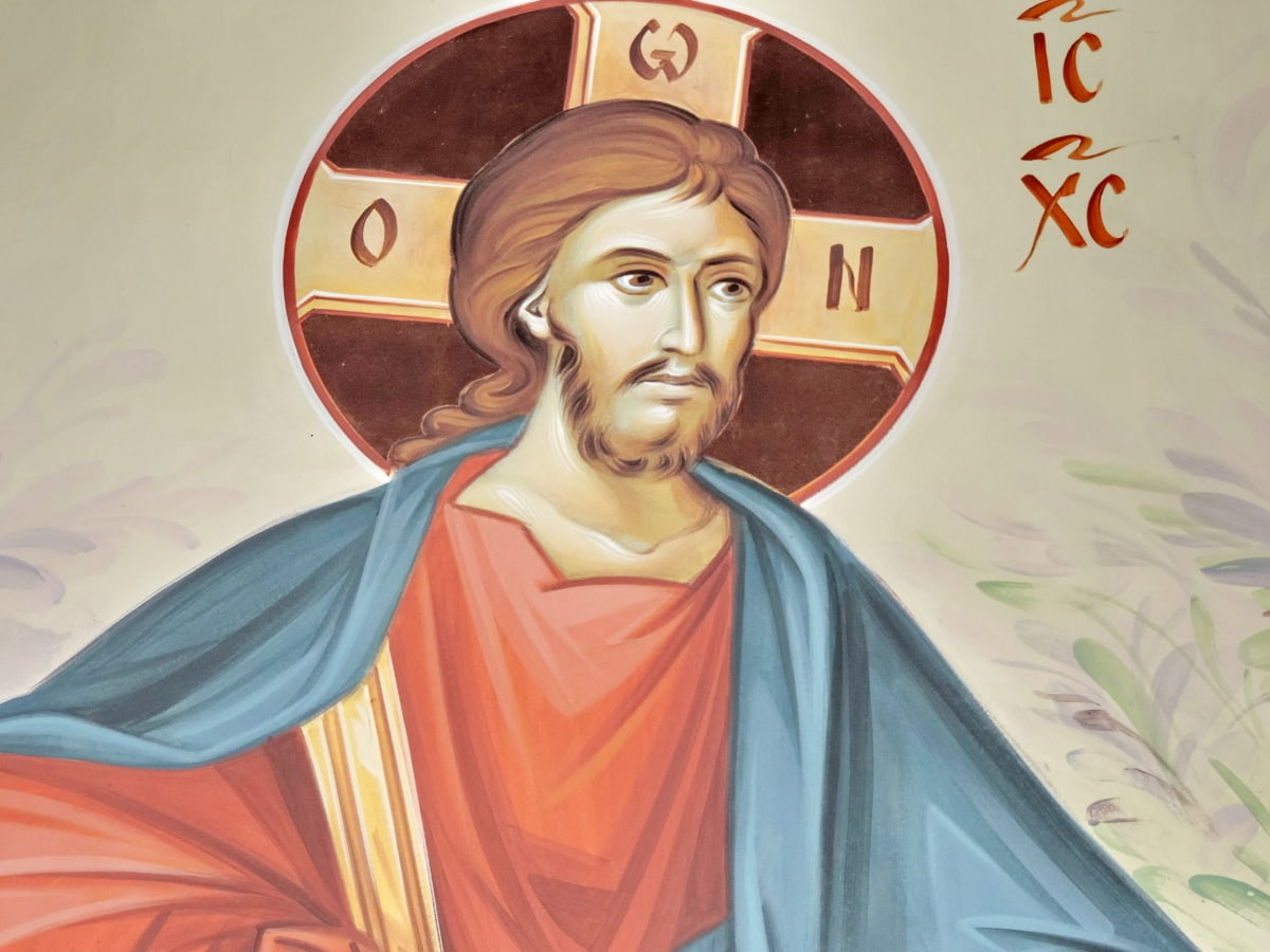 Cristo, Cristianismo, ícone, arte, religião, ilustração, pintura, véu