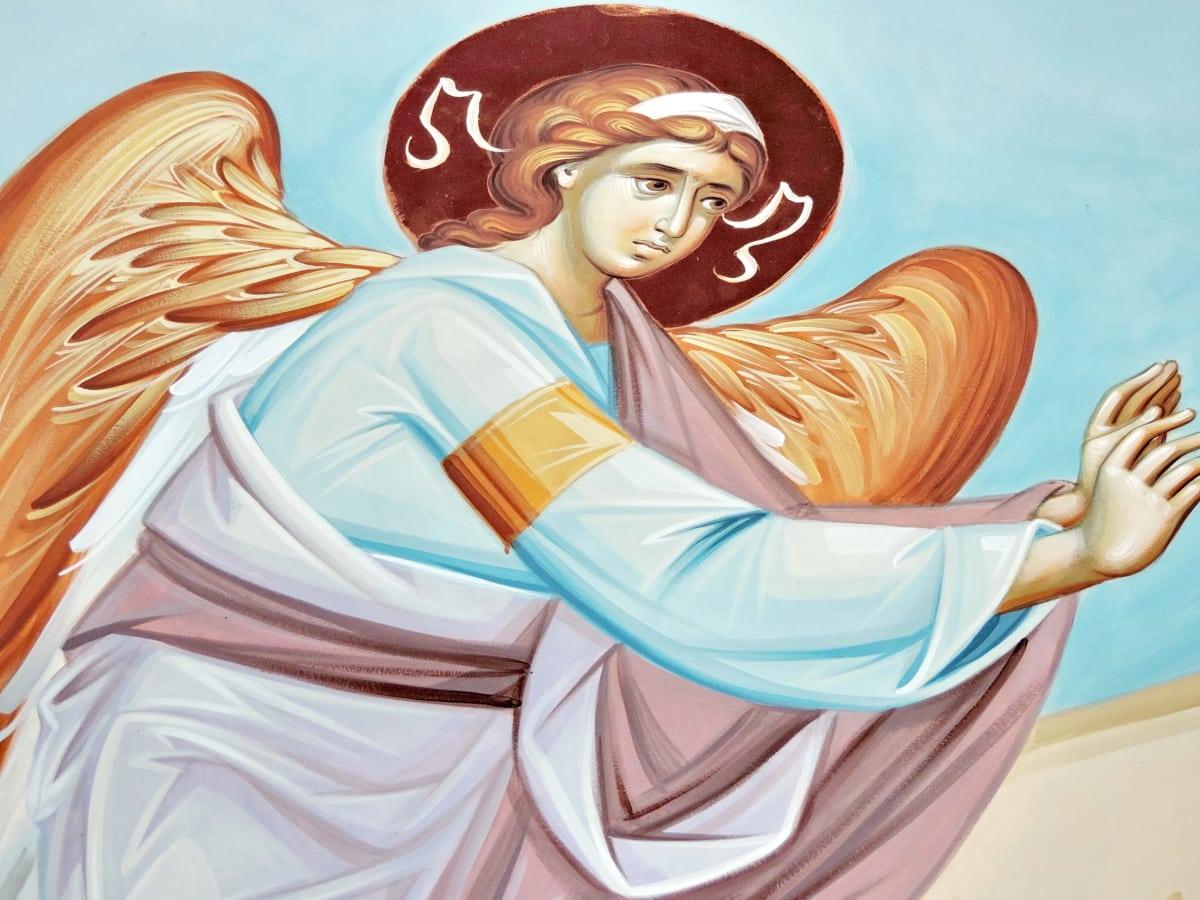 angyal, kereszténység, ikon, Művészet, illusztráció, gyönyörű, kép, haj
