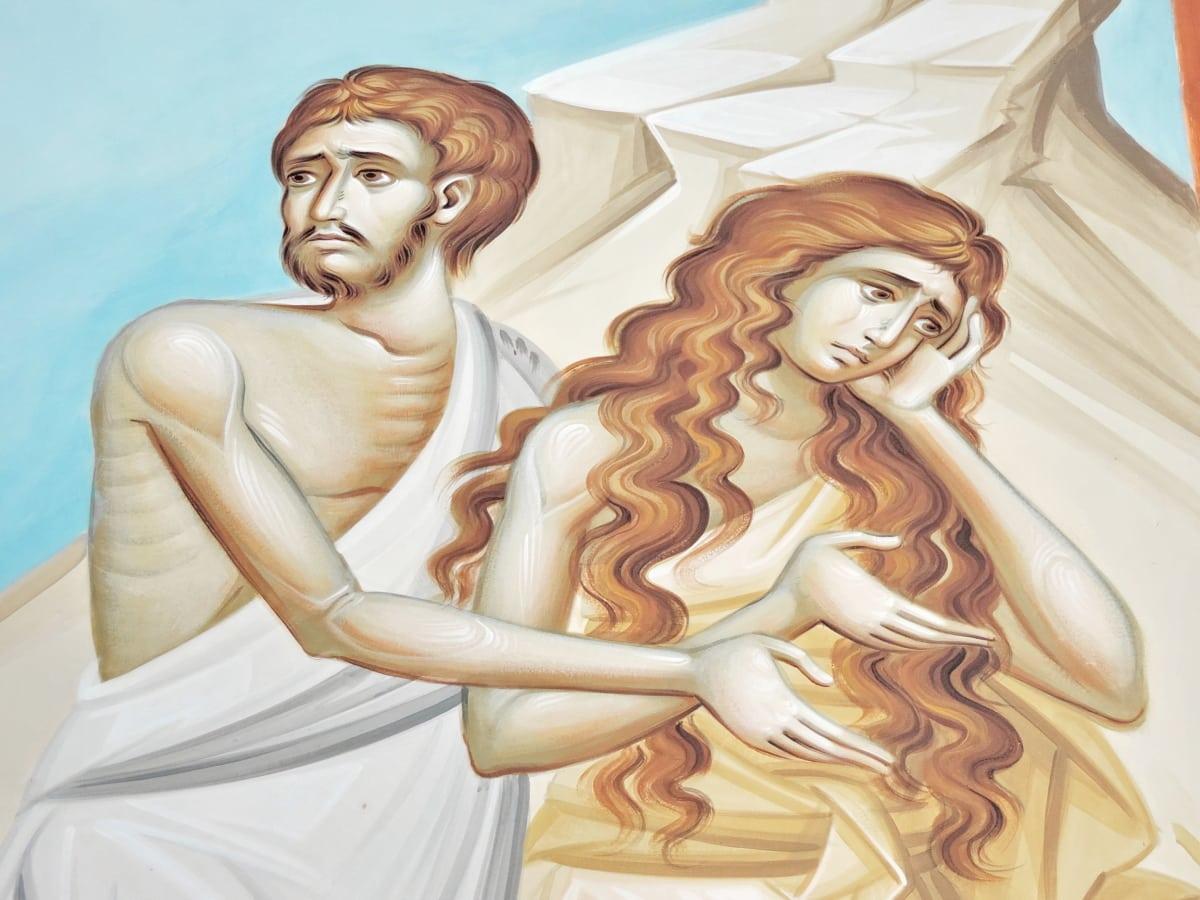 Библията, изящни изкуства, религия, изкуство, хора, мъж, жена, символ