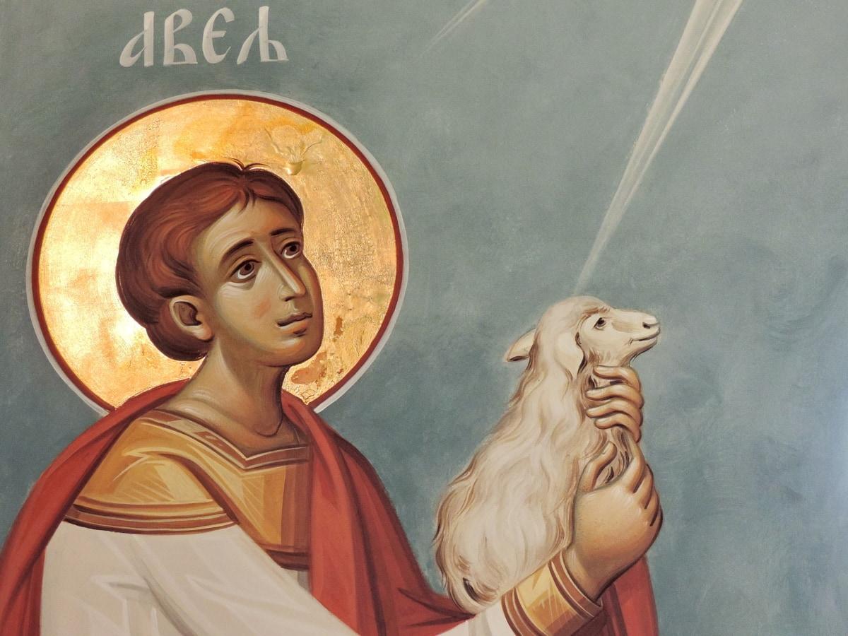 икона, прераждане, Свети, овце, поклонение, изкуство, религия, илюстрация
