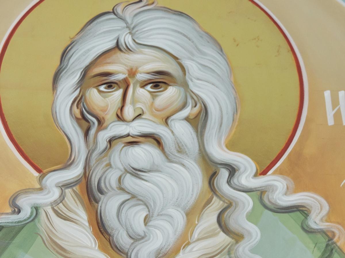 лицето, главата, портрет, Свети, изкуство, илюстрация, дизайн, религия