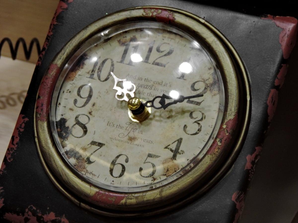 reloj analógico, antiguo, instrumento, minuto, tiempo, reloj, contador de tiempo, antiguo