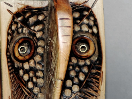handmade, owl, wood, sculpture, carving, old, nature, antique