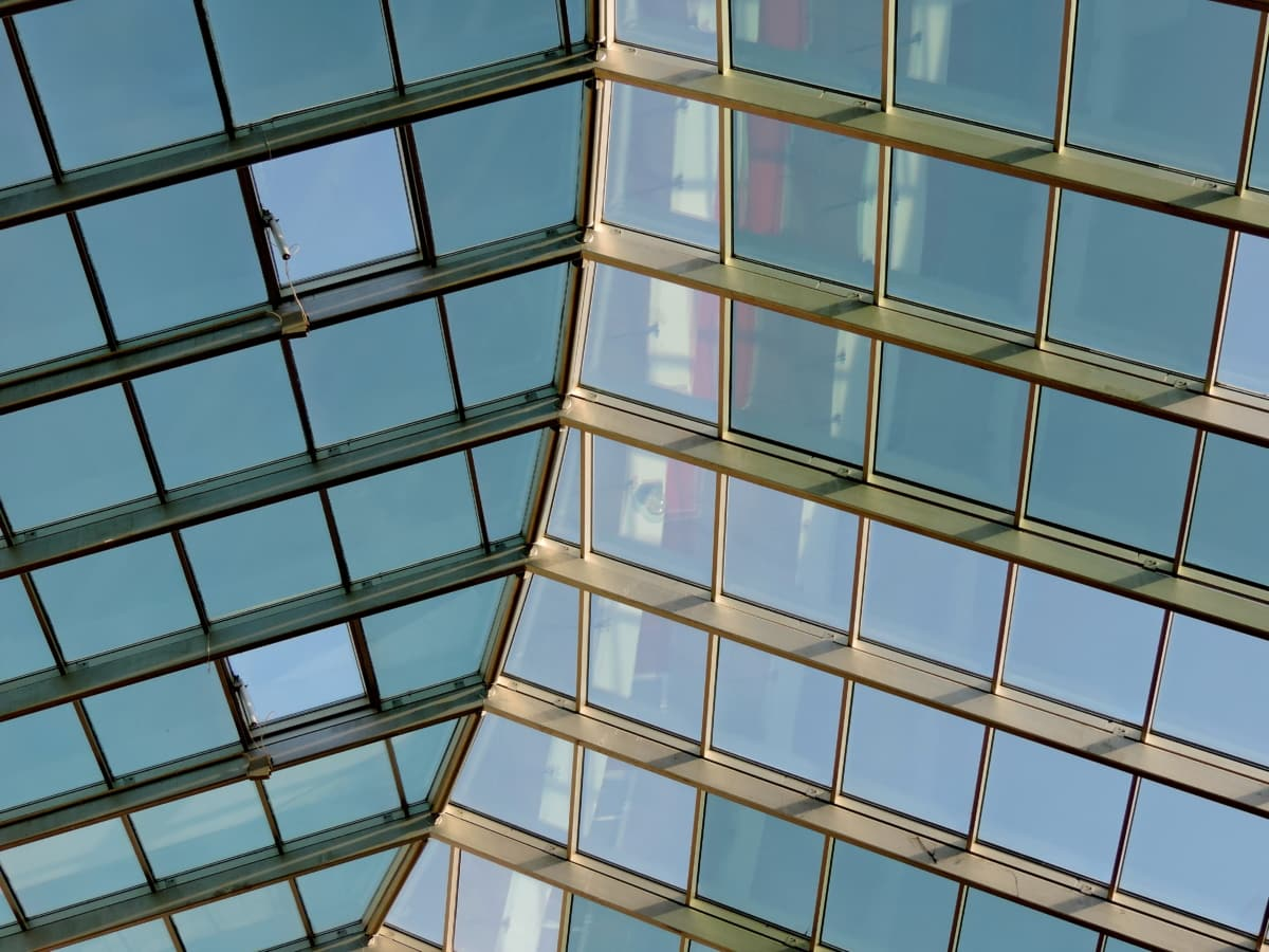 γυαλί, στέγη, κτίριο, αρχιτεκτονική, παράθυρο, μοντέρνο, φουτουριστικό, επιχειρήσεων