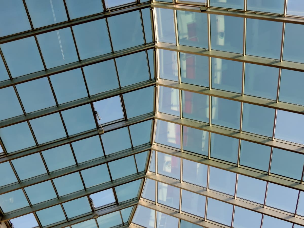 roof, transparent, glass, urban, modern, architecture, city, building