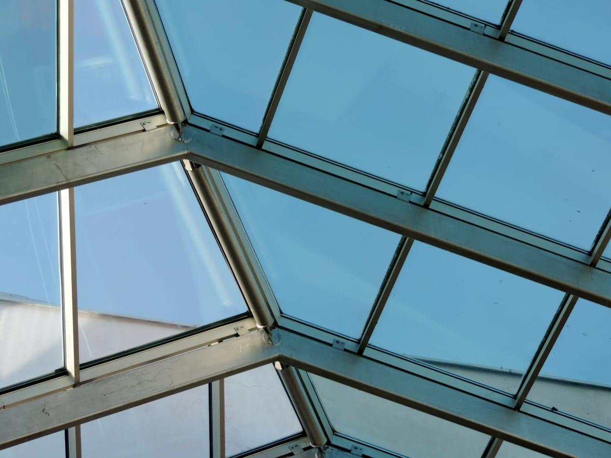 strop, transparentné, okno, štruktúra, budova, skleníkových, moderné, moderné
