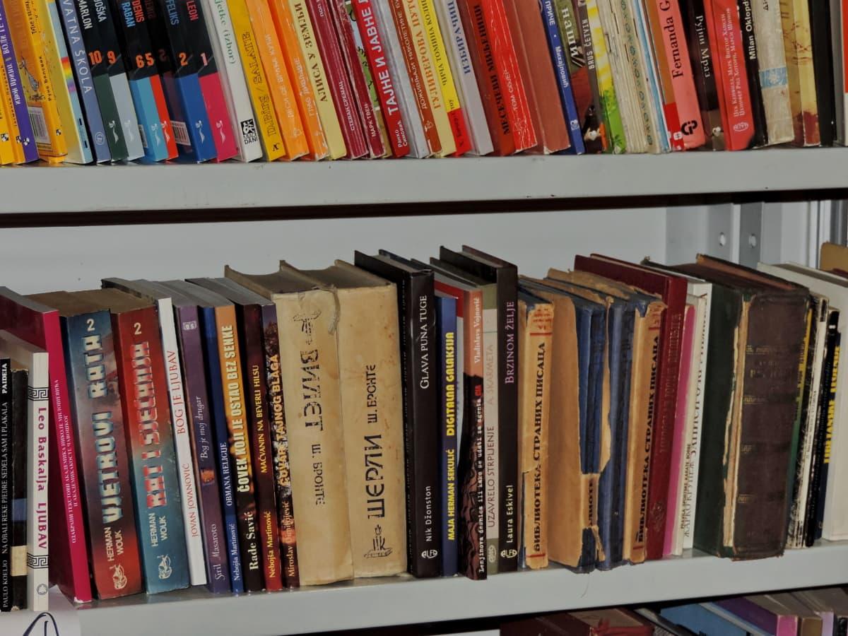 Книжная полка, Книга, Книжный шкаф, книги, книжный магазин, Колледж, Цвет, Создание
