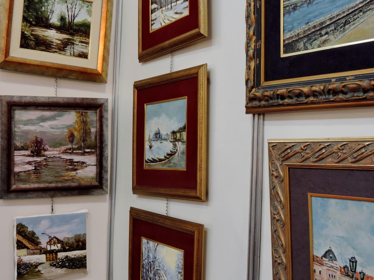 изящни изкуства, музей, живопис, Прозорец, стена, изкуство, интериорен дизайн, хора