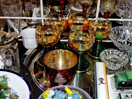 glass, glassware, object, shop, confectionery, market, traditional, table