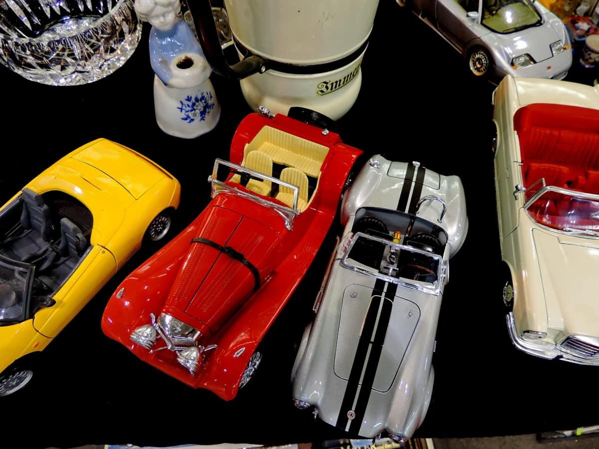 Klasik, eski moda, oyuncaklar, oyuncak dükkanı, Araba, plastik, araç, Retro