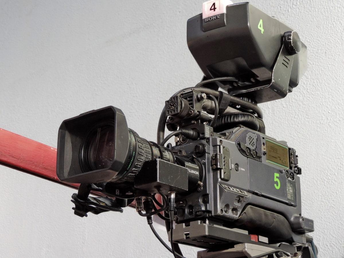 čočka, zařízení, zařízení, fotoaparát, technologie, elektronika, nahrávání videa, televize