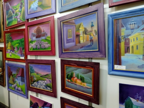 colorful, fine arts, frame, picture, painting, exhibition, museum, architecture