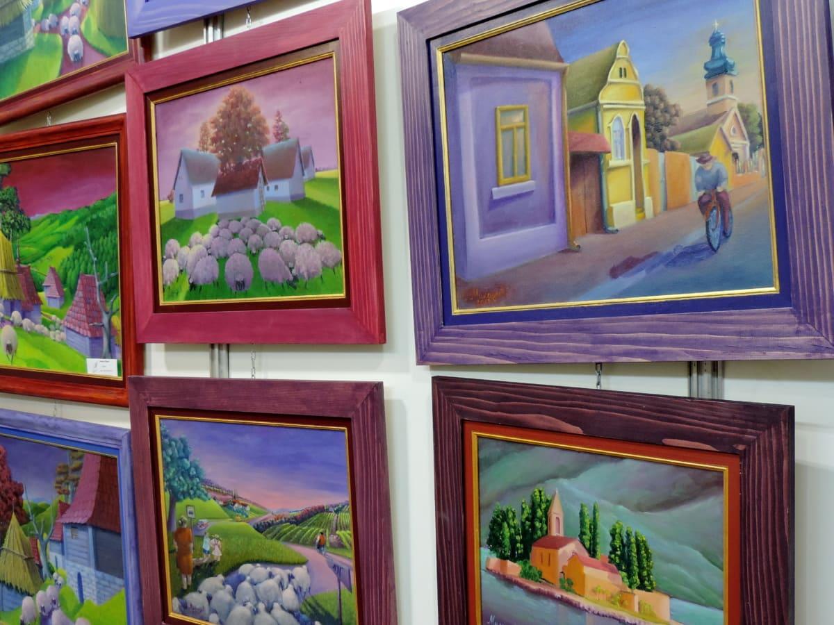 lukisan, Pameran, museum, ilustrasi, seni, pemandangan, di luar rumah, gambar