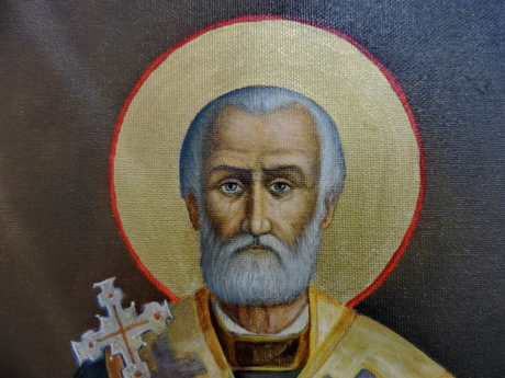 Byzantine, christianity, fine arts, man, orthodox, portrait, religion, saint