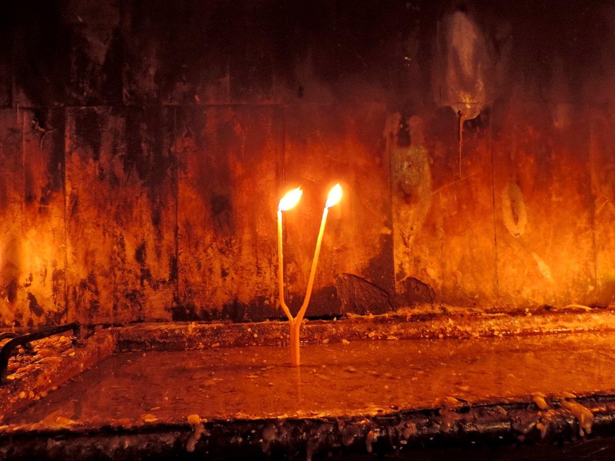 candela, candele, Chiesa, tenebre, ortodossa, religiosa, acqua, fiamma
