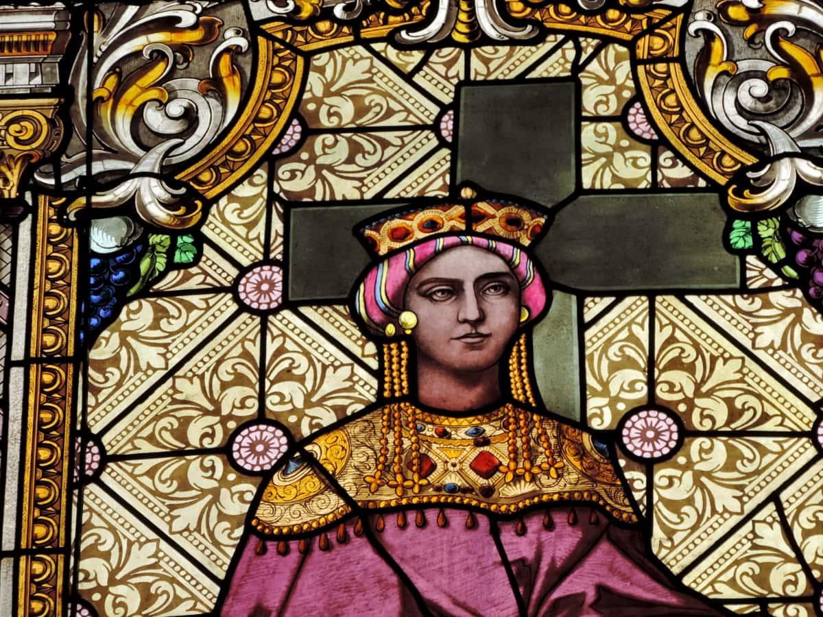 кръст, култура, православна, портрет, кралица, изкуство, декорация, религия