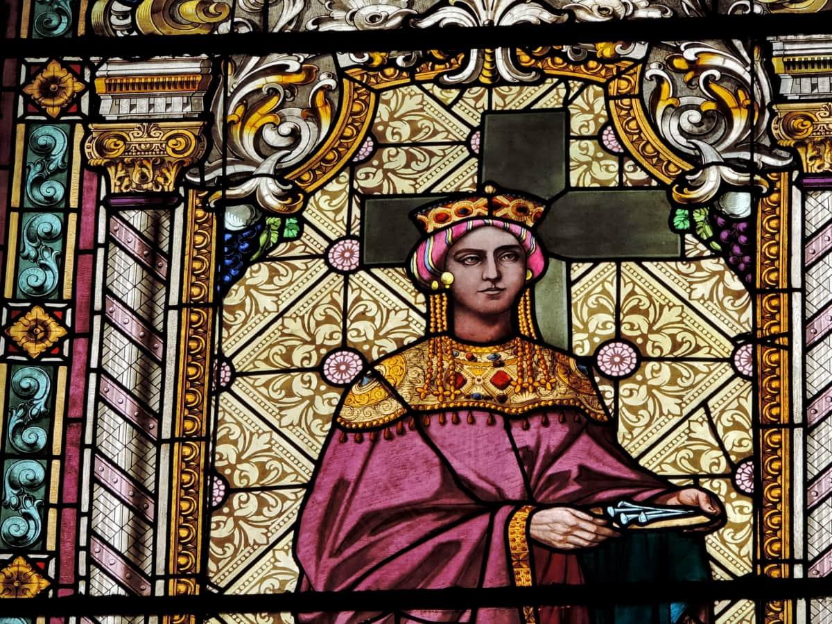 Byzantijnse, Christendom, Prinses, religie, Gebrandschilderd glas, kunst, kerk, religieuze