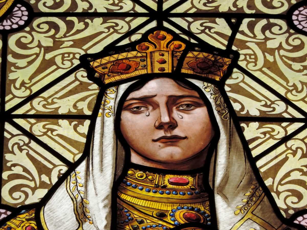 portret, Koningin, verdriet, Teardrop, kunst, religie, decoratie, cultuur