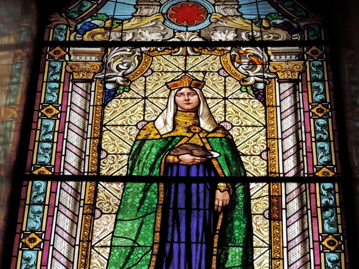 православна, кралица, Сърбия, стъклопис, религиозни, църква, Свети, катедрала