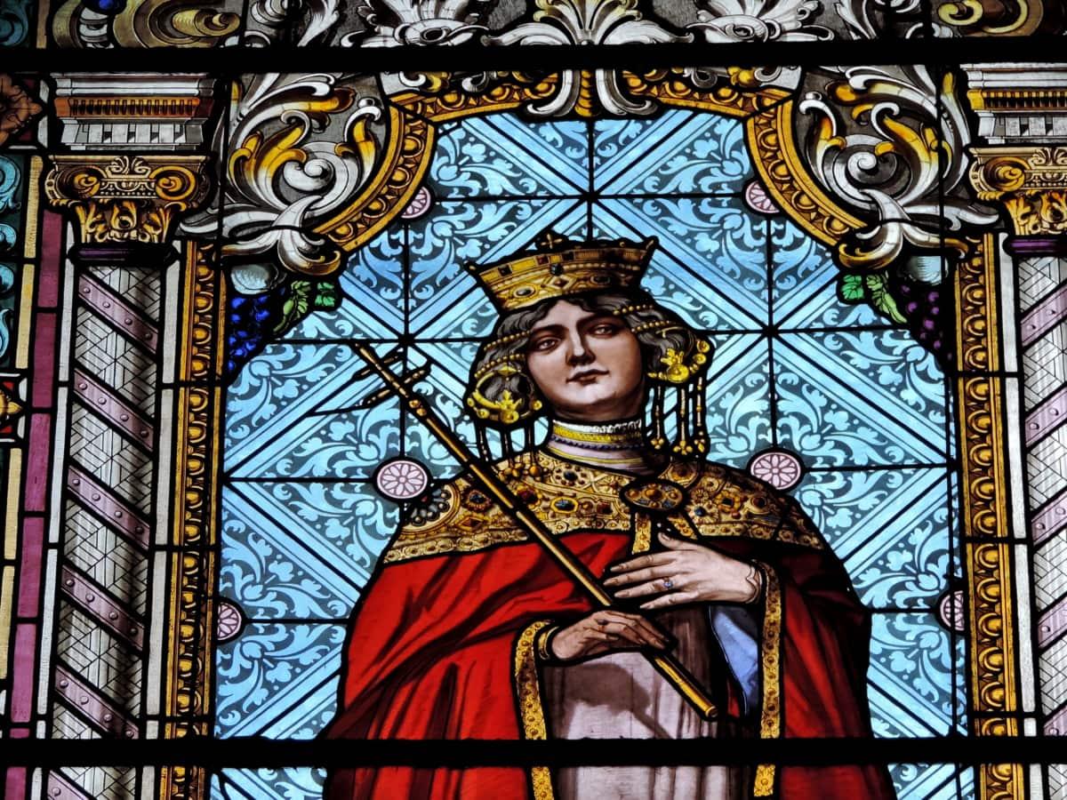 ortodokse, dronning, Glassmaleri, kirke, kunst, religion, helgen, katedralen