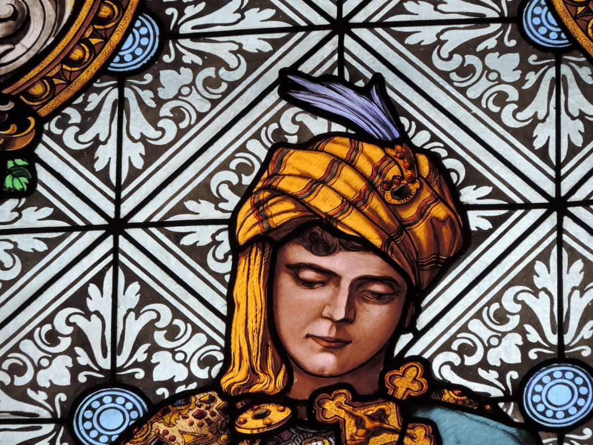 fashion, fine arts, medieval, portrait, stained glass, decoration, pattern, art